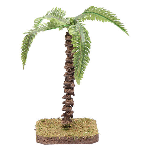 Palma con hojas moldeables 13 cm para belén 1