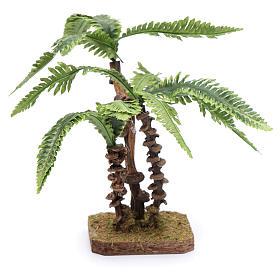 Tre palme su base unica e foglie modellabile accessorio per presepe s3