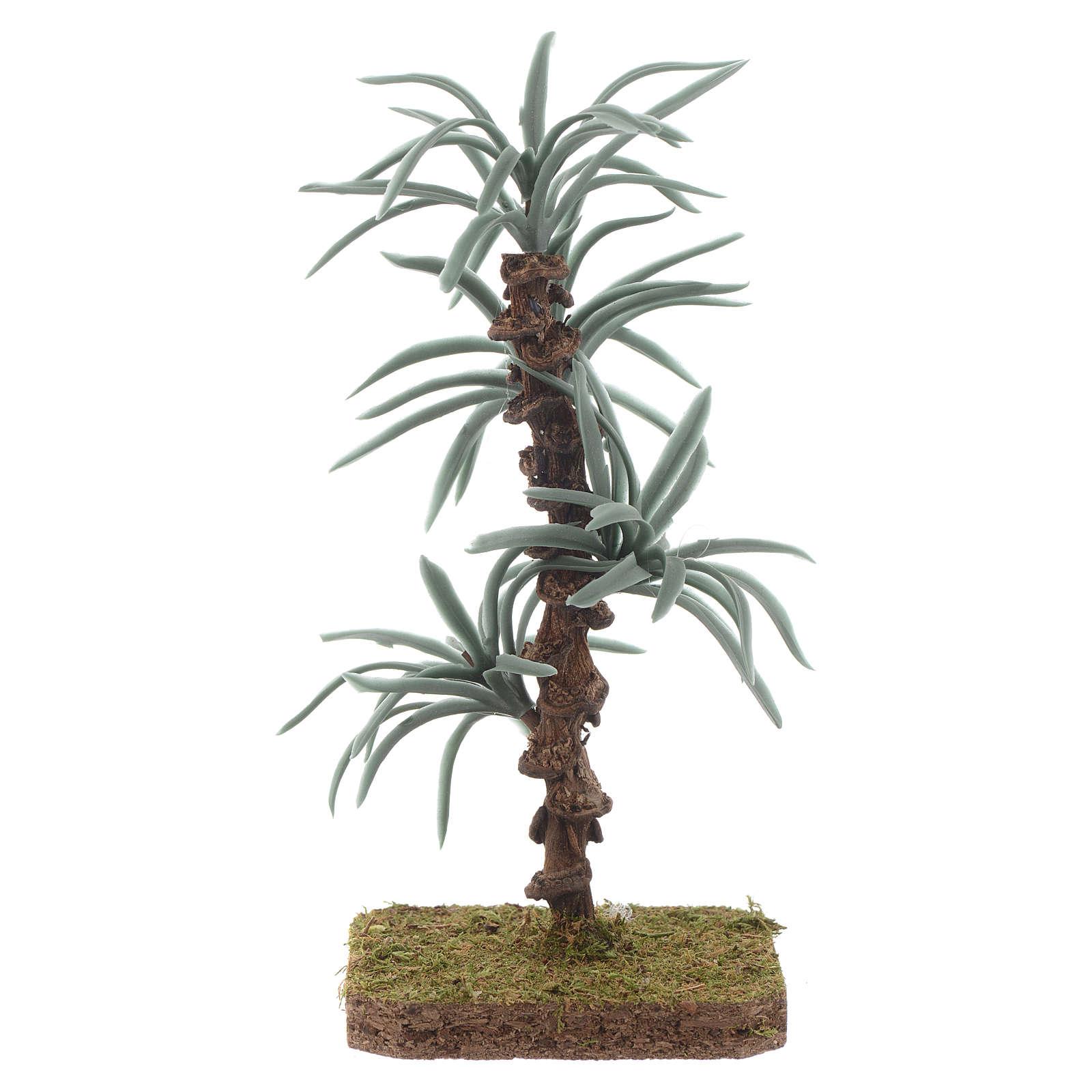Palma con foglie rigide - 13 cm accessorio per presepe 4
