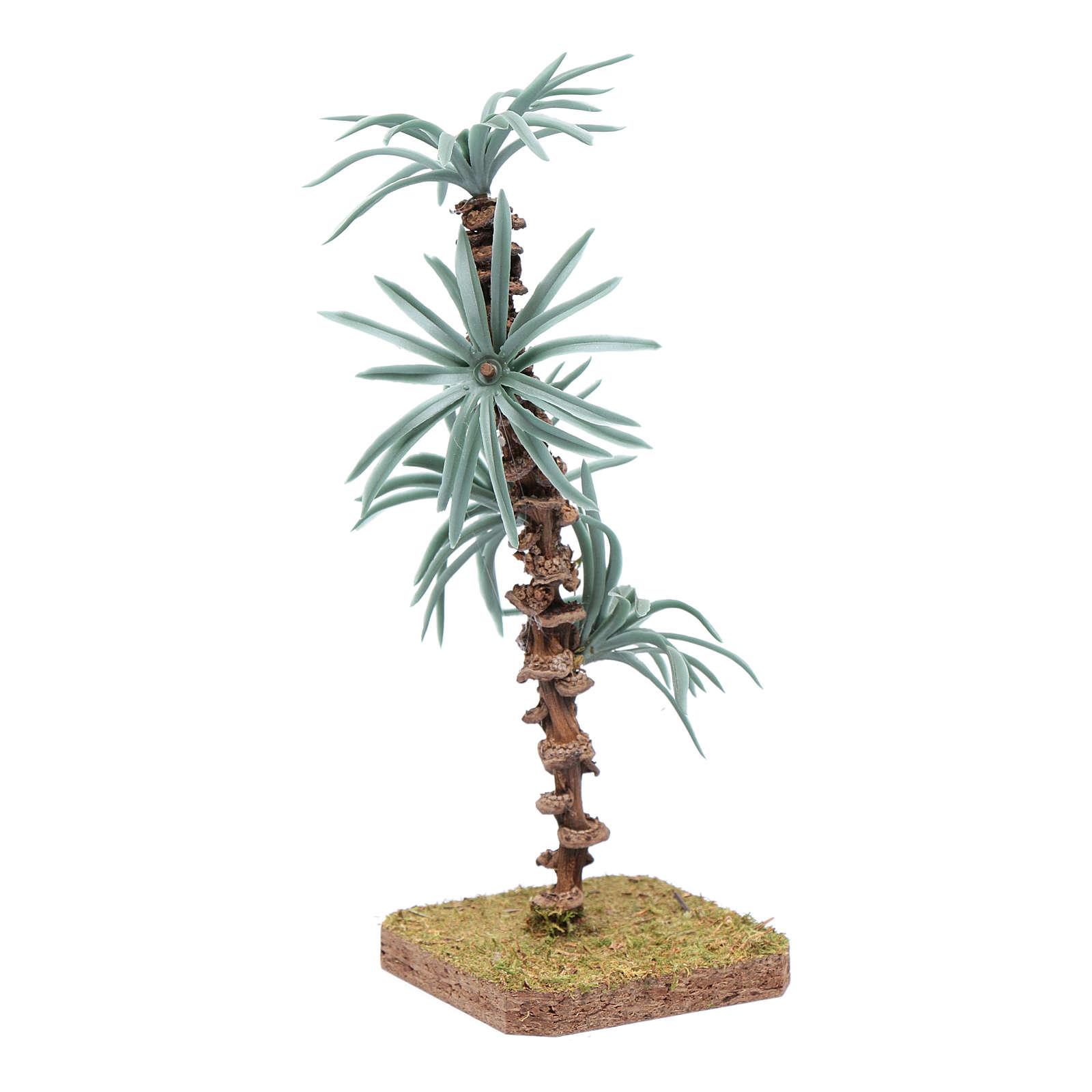 Palma 18 cm con foglie rigide accessorio per presepe 4