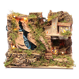 Arroyo accesorio para belén con luces 15x25x20 cm s1