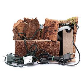 Ruscello accessorio per presepe con luci 15x25x20 cm s4