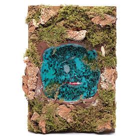 Lago com peixes efeito água acessório presépio 5x20x15 cm s1