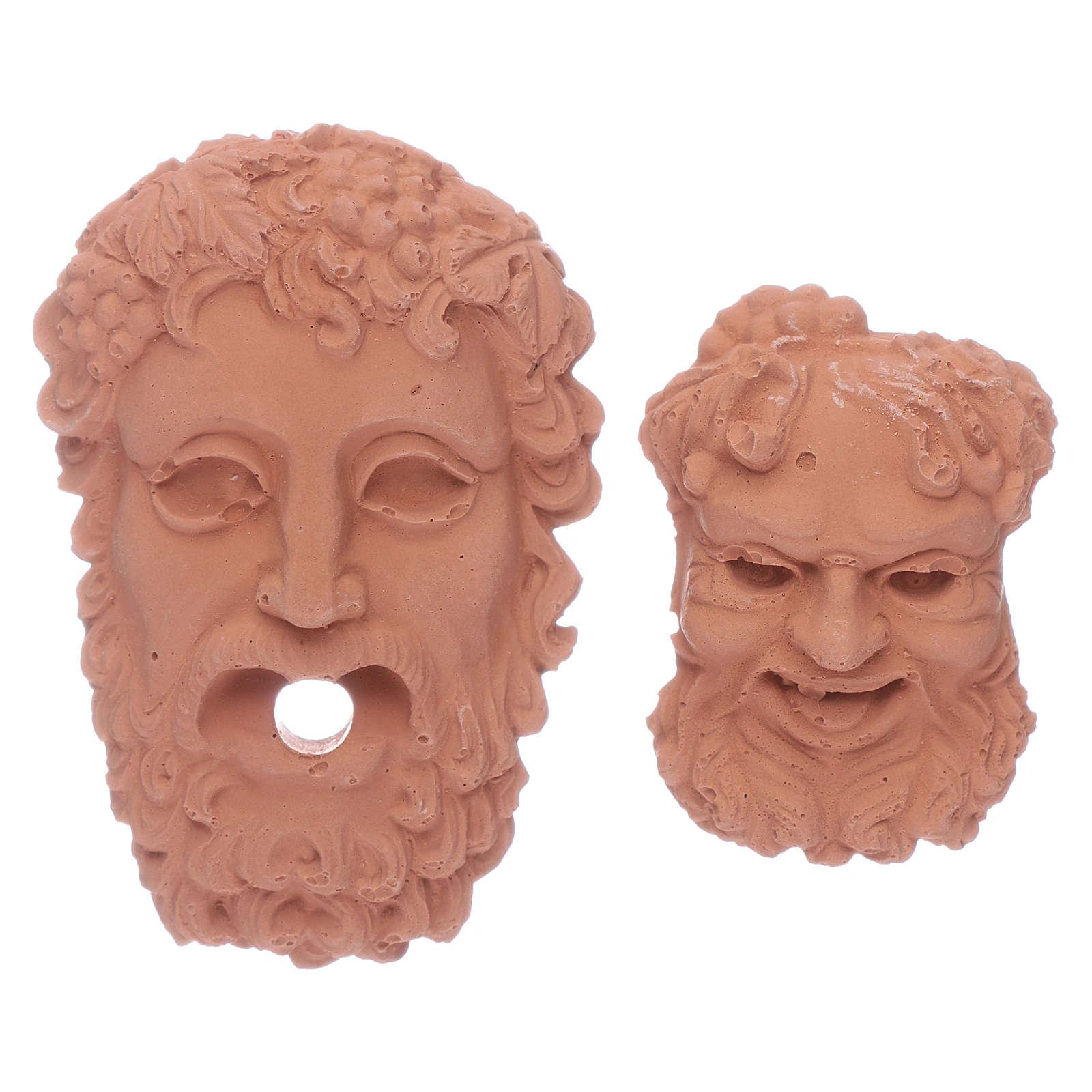 Cabezas Dioses griegos Zeus y Baco 4