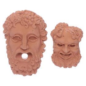 Têtes dieux grecs Zeus et Bacchus s1