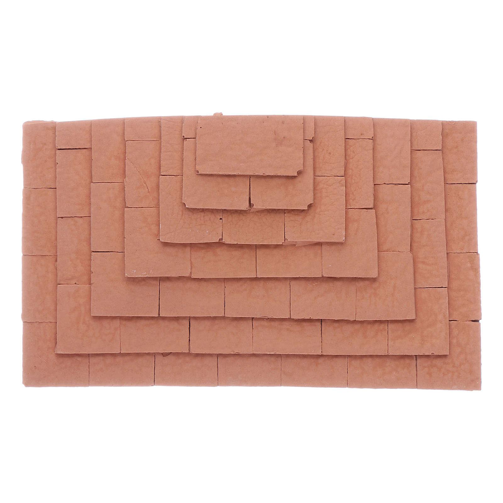 Escalier sur trois côtés en terre cuite 1,5x10x5 cm 4