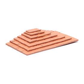 Escalier sur trois côtés en terre cuite 1,5x10x5 cm s2