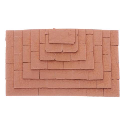Escalier sur trois côtés en terre cuite 1,5x10x5 cm 1