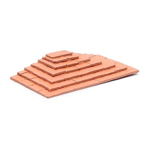 Scalinata su tre lati in terracotta 1,5x10x5 cm 2