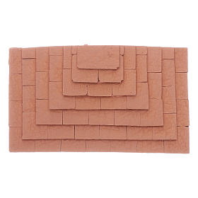 Stairway with three sides made in terracotta 1,5x10x5 cm s1