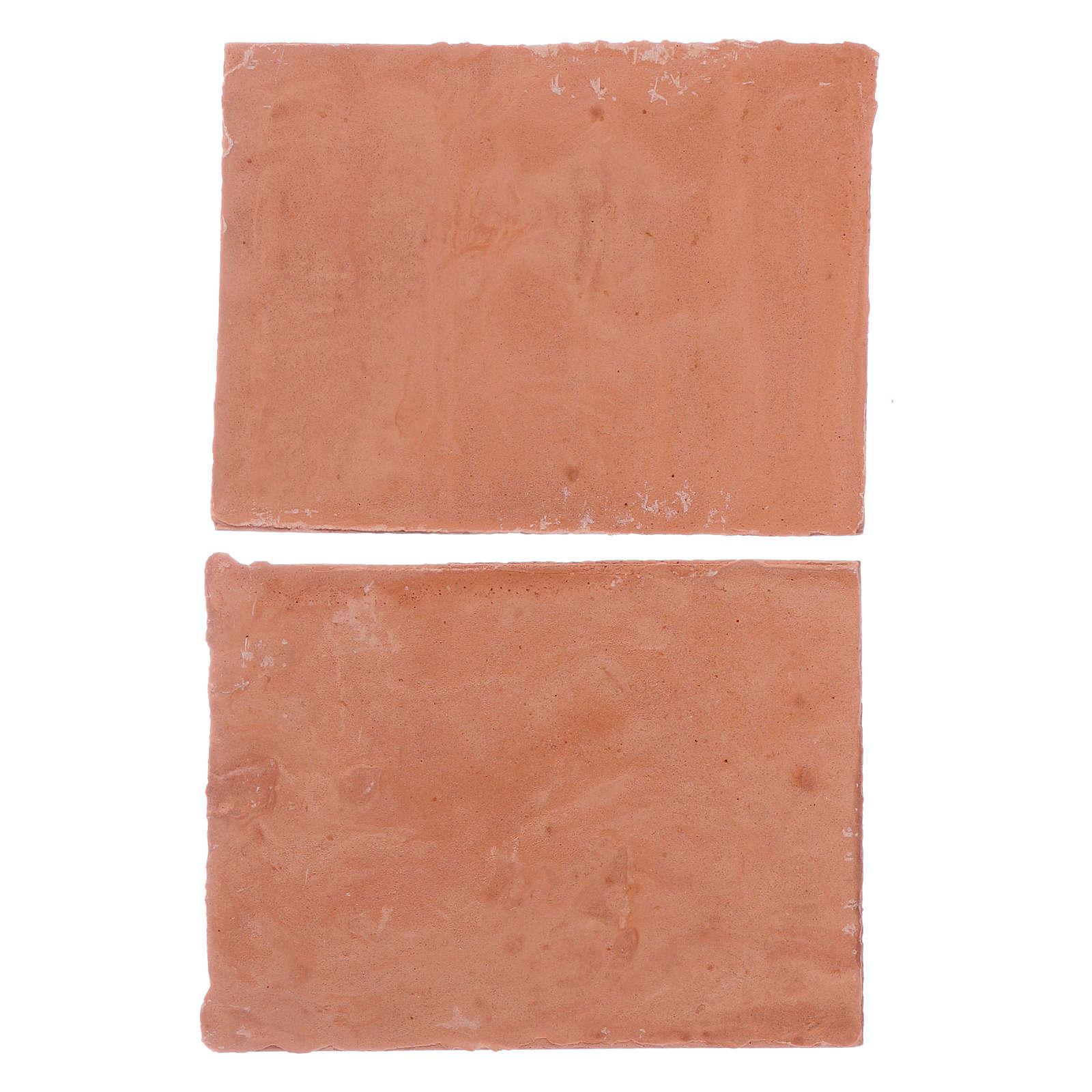 Tetto 5x5 cm in resina set 2 pezzi 4