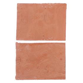 Tetto 5x5 cm in resina set 2 pezzi s2