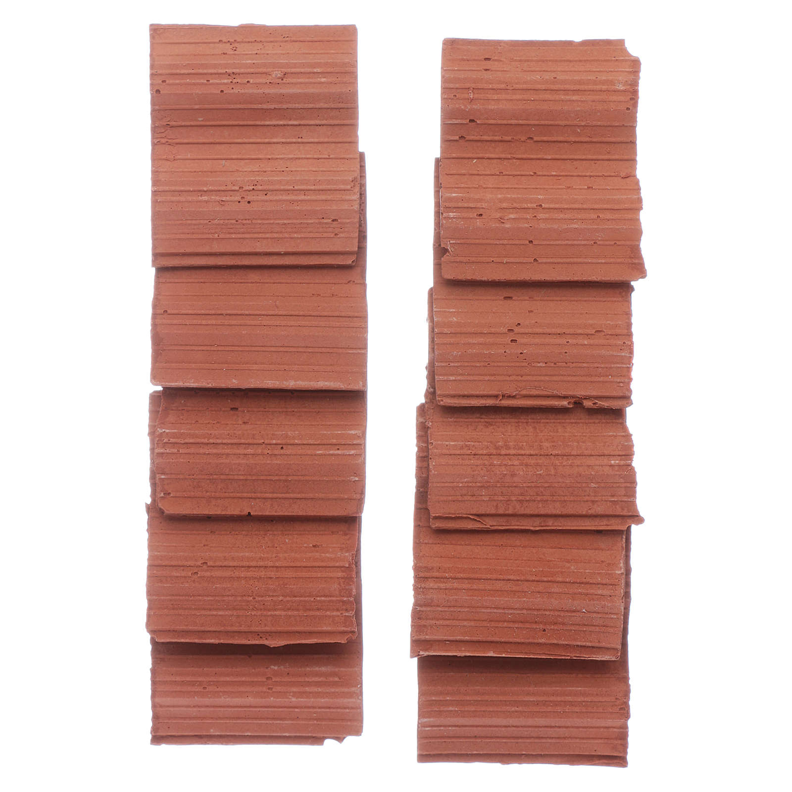 Double wave shingle in Roman style set of 10 pieces 4