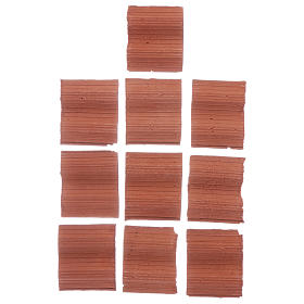 Double wave shingle in Roman style set of 10 pieces s1