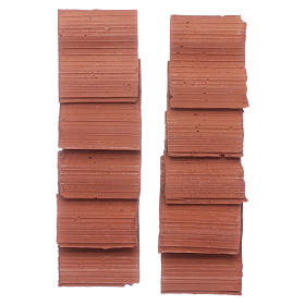 Double wave shingle in Roman style set of 10 pieces s3