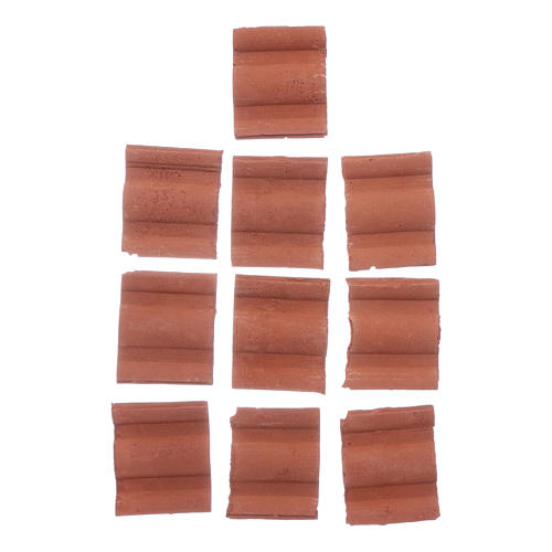 Double wave shingle in Roman style set of 10 pieces 2