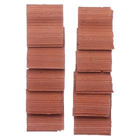 Teja doble ola estilo romano - set 10 piezas s3