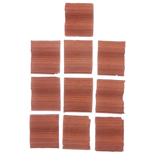 Double wave shingle in Roman style set of 10 pieces 1
