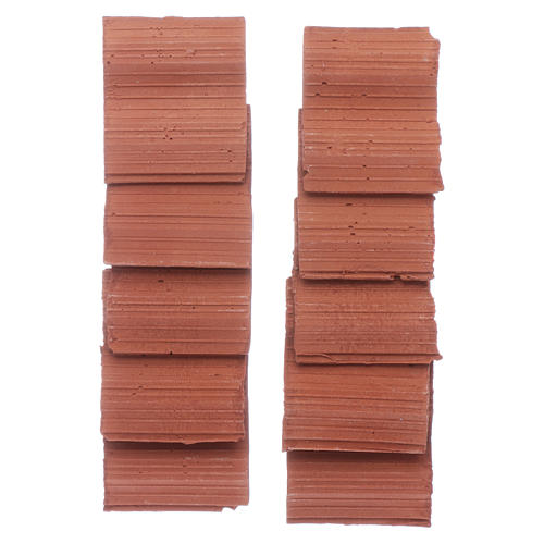 Double wave shingle in Roman style set of 10 pieces 3