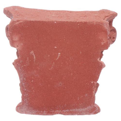 Corinthian semi capital in resin 5x5 cm 2