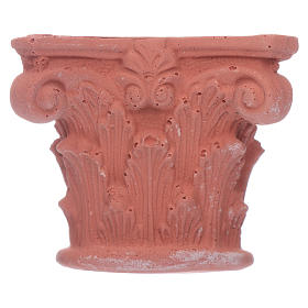 Semi-capitel Corintio de resina 5x5 cm s1