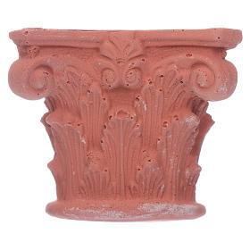 Acessórios de Casa para Presépio: Meio capitel coríntio em resina 4,5x5x2,5 cm