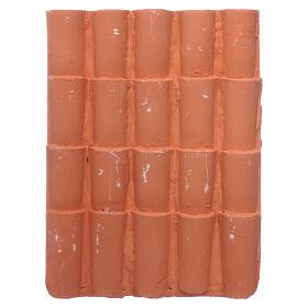 Panel tejas 15x10 cm de resina s2