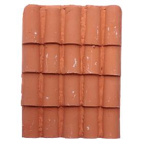 Acessórios de Casa para Presépio: Painel telhas 14,5x11 cm em resina