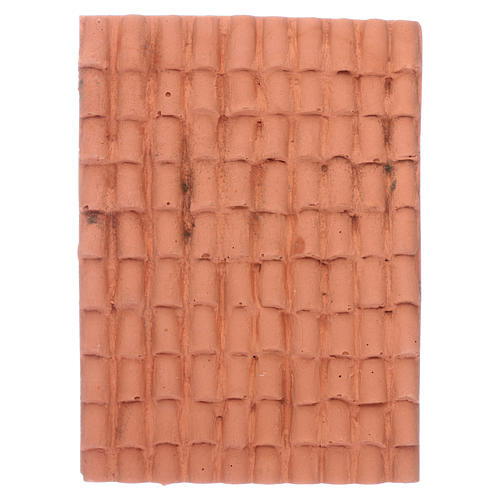 Nativity scene accessory roof with terracotta shingles 10x5 cm 1