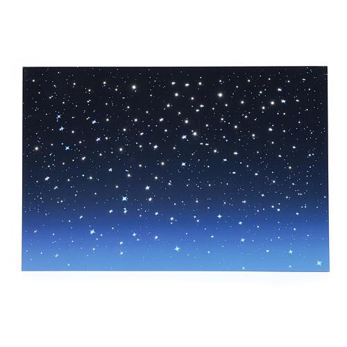 Cielo luminoso led e fibra ottica 40x60 cm 1