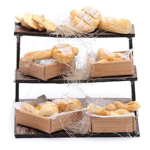 Banco di pane e cesti 5x5x5 cm presepe napoletano 1