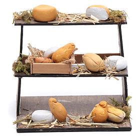 Banco di tre piani con formaggi presepe napoletano s1