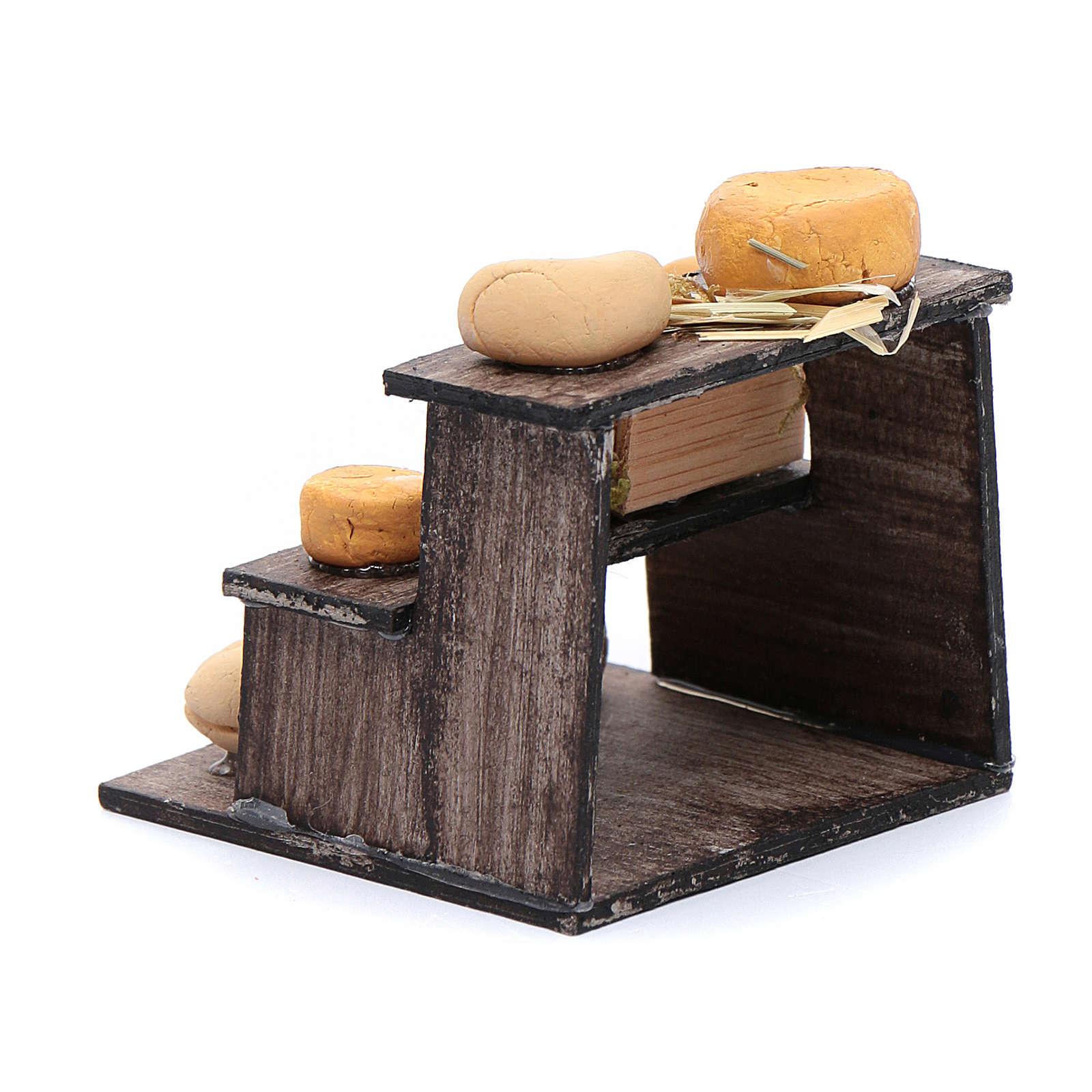 Banchetto di formaggi accessorio presepe napoletano 4