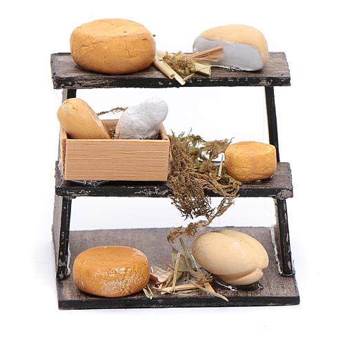 Banchetto di formaggi accessorio presepe napoletano 1