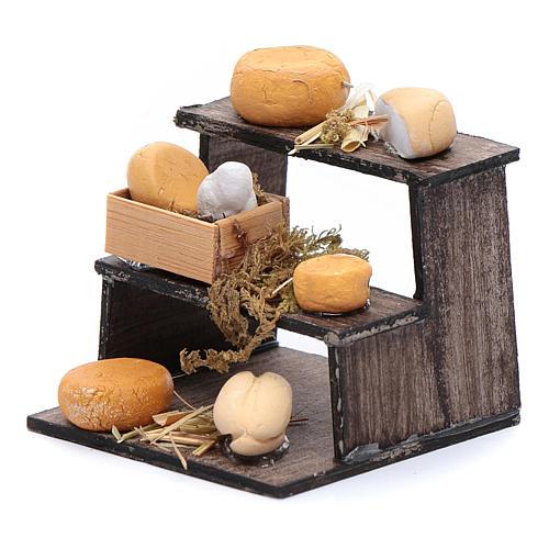 Banchetto di formaggi accessorio presepe napoletano 2
