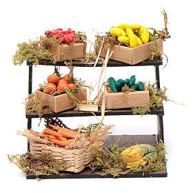 Banco con cesti di frutta - presepe artigianale Napoli s1