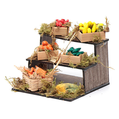 Banco con cesti di frutta - presepe artigianale Napoli 2