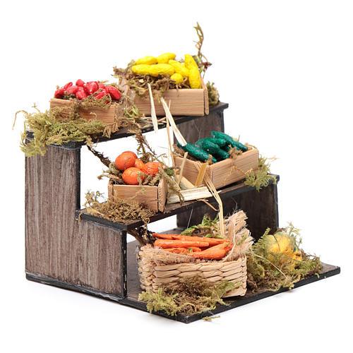 Banco con cesti di frutta - presepe artigianale Napoli 3