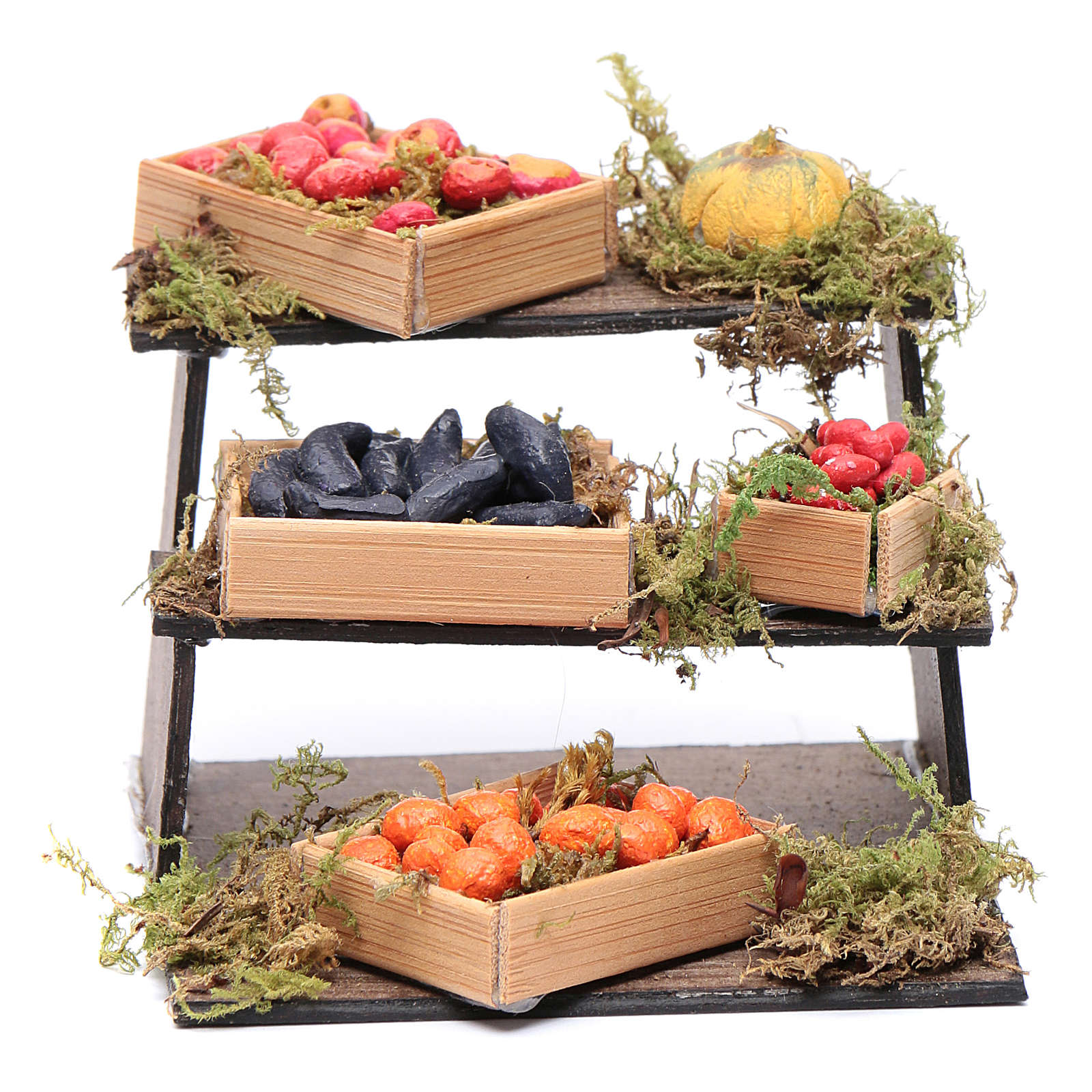 Banco di frutta e verdura presepe napoletano fai da te 4