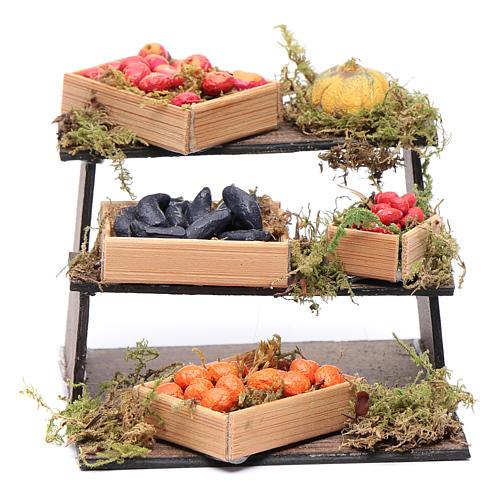 Banco di frutta e verdura presepe napoletano fai da te 1
