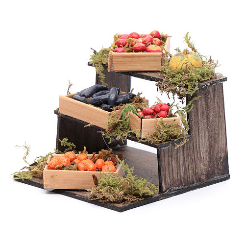 Banco di frutta e verdura presepe napoletano fai da te 2