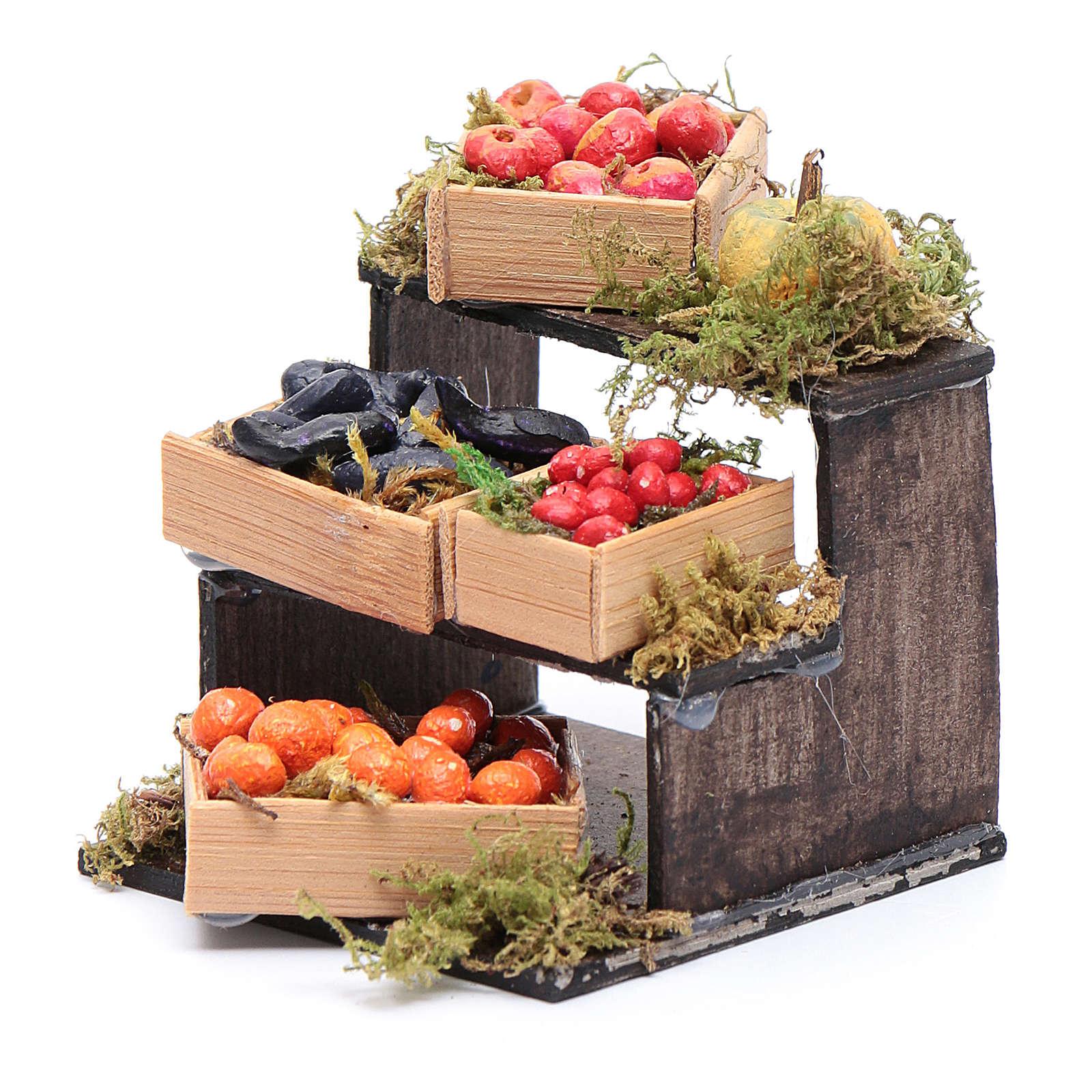 Banchetto di frutta accessori in miniatura per presepe napoletano 4