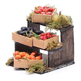 Banchetto di frutta accessori in miniatura per presepe napoletano s2
