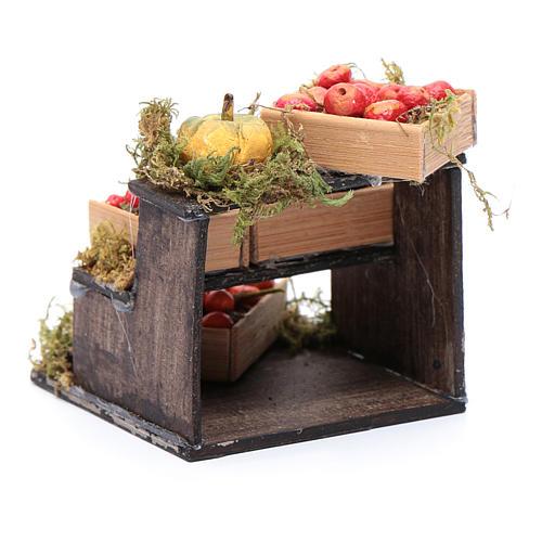 Banchetto di frutta accessori in miniatura per presepe napoletano 3