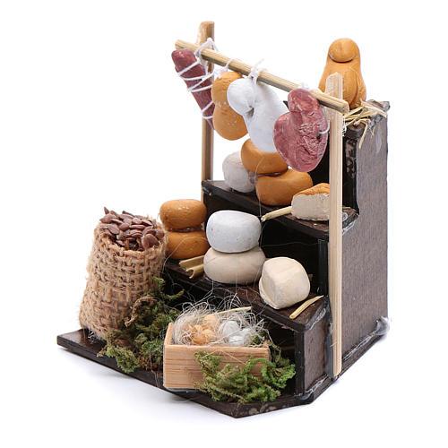 Banchetto di formaggi in miniatura accessori presepe napoletano 2