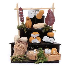 Banco triangolare di formaggi accessori presepe di Napoli s1