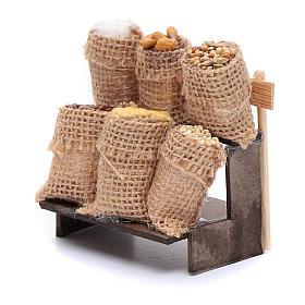 Banchetto con sacchi in juta - accessori presepe napoletano s2