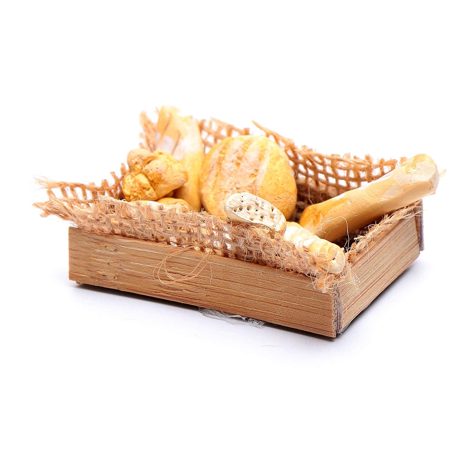 Cesto di pane accessorio presepe napoletano fai da te 4