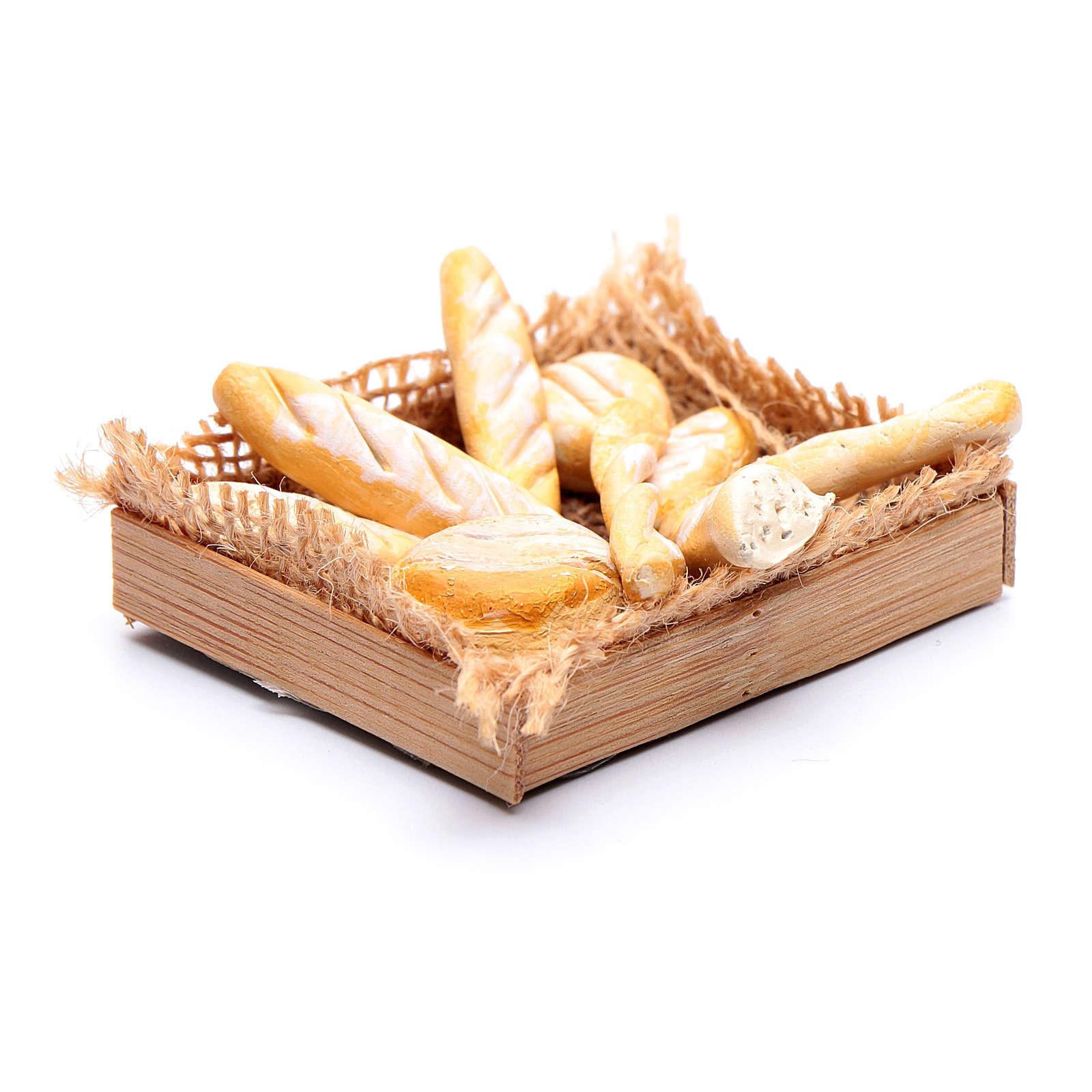 Cesto con varie forme di pane presepe napoletano fai da te 4