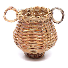 Wicker basket with jug shape for nativity scene 4x4 cm s2